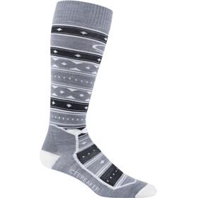 Icebreaker OTC Ultra Light Ski Full Socks Women Metro Heather/Jet Heather/Snow